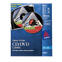 Avery CDDVD Labels Permanent 8942 4