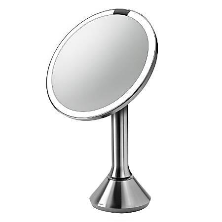 "simplehuman Round Sensor Mirror, 8"", Silver"
