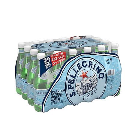 San Pellegrino Sparkling Natural Mineral Water, 16.9 Oz, Pack Of 24 Bottles