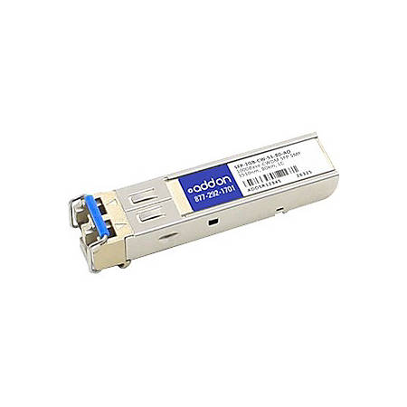 AddOn MSA and TAA Compliant 1000Base-CWDM SFP Transceiver (SMF, 1510nm, 80km, LC) - 100% compatible and guaranteed to work