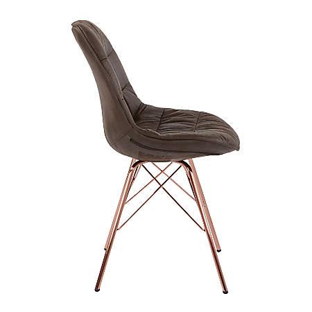 Ave Six Langdon Chair, Saddle/Rose Gold