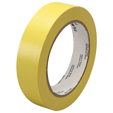"3M™ 764 Vinyl Tape, 3"" Core, 1"" x 36 Yd., Yellow, Case Of 36"