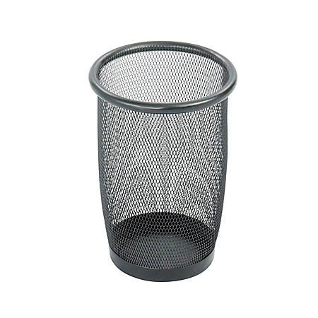 Safco® 9716 Round Mesh Wastebasket, 3-Gallon, Black