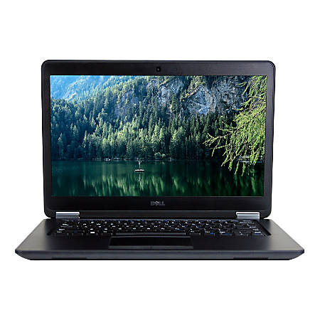 """Dell™ Latitude E7450 Refurbished Laptop, 14"""" Screen, 5th Gen Intel® Core™ i5, 8GB Memory, 256GB Solid State Drive, Windows® 10 Professional"""