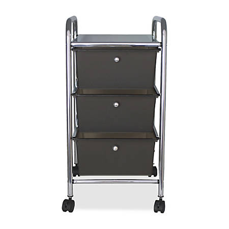 "Advantus 3-Drawer Organizer With Casters, 27""H x 15 1/2""W x 13""D, Smoke"