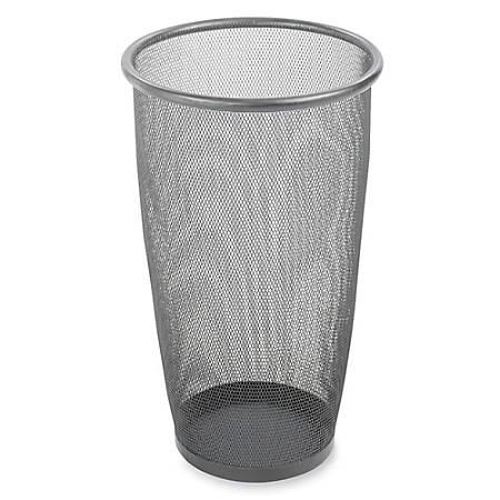 Safco® Mesh Wastebasket, 9 Gallons, Black