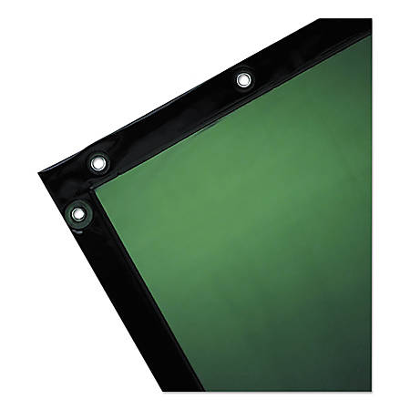 Wilson Industries Welding Curtain, 6' x 6', Transparent Green
