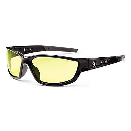 Ergodyne Skullerz® Safety Glasses, Kvasir, Black Frame, Yellow Lens
