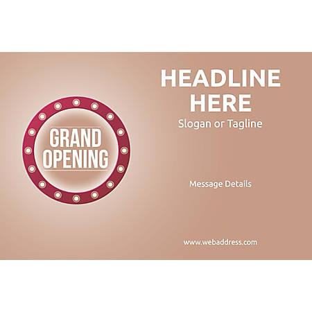 Adhesive Sign, Retro Grand Opening, Horizontal