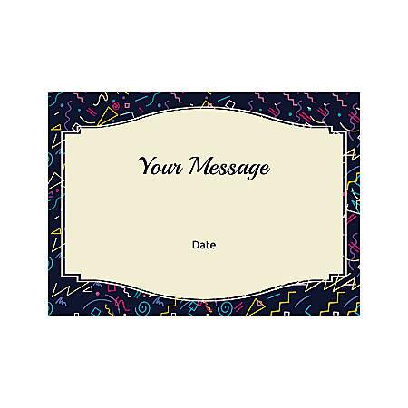 Flat Photo Greeting Card, Confetti, Horizontal