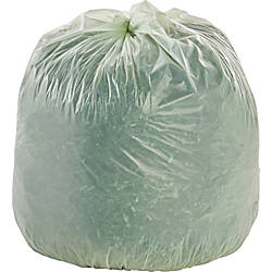 """Stout® Compostable Trash Bags, 30 Gallons, 1.1 Mil Thick, 39"""" x 30"""", Box Of 48 Item# 604570 