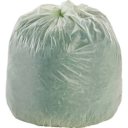 EcoSafe-6400 Compostable Compost Bags, 1.1 mil, 30-Gallon, Green, Box Of 48