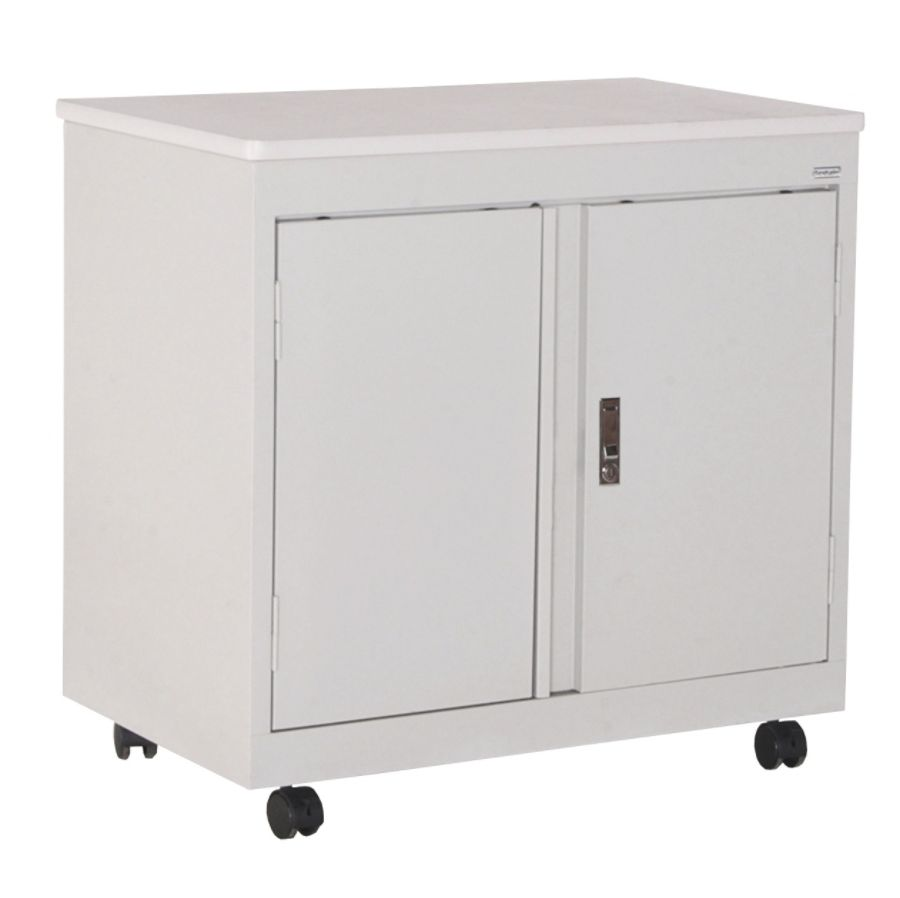 Charming Sandusky Steel Mobile Utility Cabinet Dove Gray By Office Depot U0026 OfficeMax