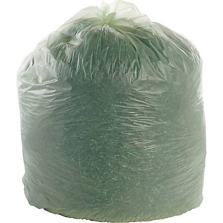 EcoSafe-6400 Compostable Compost Bags, 0.85 mil, 64-Gallon, Green, Box Of 30