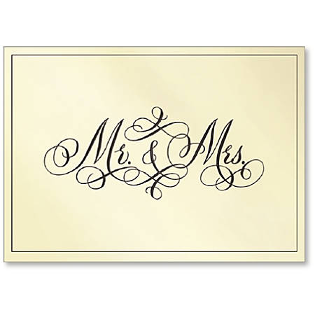 "Viabella Wedding Greeting Card With Envelope, Mr. And Mrs., 5"" x 7"""