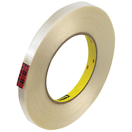 "Scotch® 890MSR Strapping Tape, 3"" Core, 0.5"" x 60 Yd., Clear, Case Of 72"