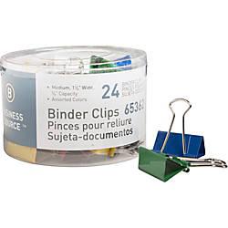 Business Source Colored Fold back Binder