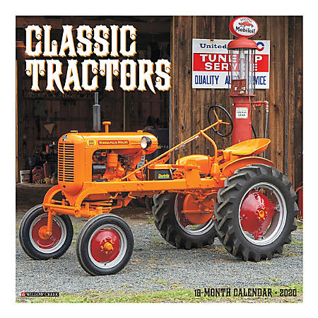 "Willow Creek Press Hobbies Monthly Wall Calendar, 12"" x 12"", Classic Tractors, January To December 2020"
