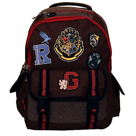 "Harry Potter Backpack With 10"" Laptop Pocket, Brown"