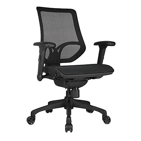 WorkPro® 1000 Mesh Multifunction Ergonomic Mid-Back Task Chair, Black