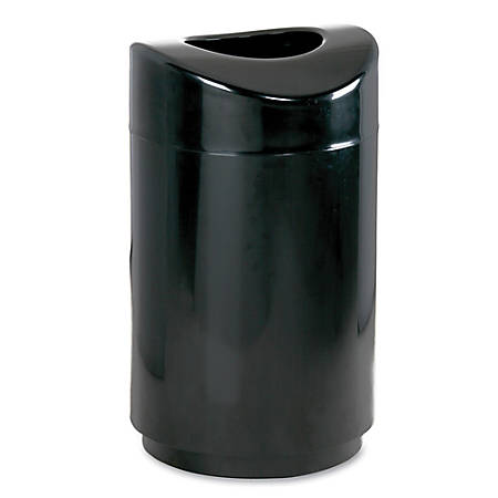 """Rubbermaid Eclipse Open Top Waste Can, 30-Gallon,20""""H x 35 1/2""""D, Black"""