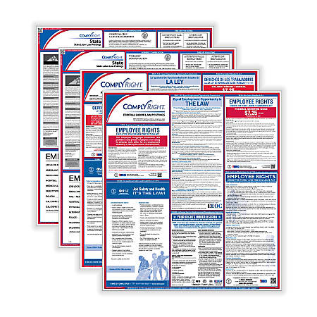 ComplyRight Federal/State Labor Law Posters And 1-Year Subscription Service, Bilingual, Oregon