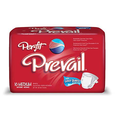 "Per-Fit® Frontal Tape Briefs, Medium, 32""-44"", White, Box Of 16"