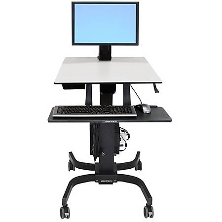 Ergotron WorkFit-C Single LD Computer Stand, Gray/Black