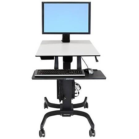 Ergotron WorkFit-C Single HD Sit Stand Computer Stand, Gray/Black