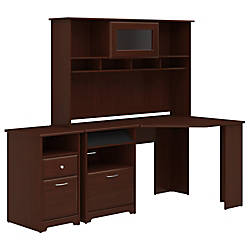 Bush Furniture Cabot Corner Desk With Hutch And 2 Drawer