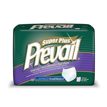 "Prevail® Protective Underwear-Super Plus, Sm-Md, 34""-46"", Green, Box Of 18"