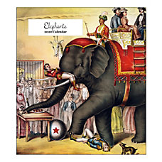 Retrospect Elephants Monthly Desk Calendar 6