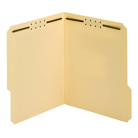"""Office Depot® File Folders With Fasteners, 1/3 Cut, 2 Fasteners, Letter Size (8-1/2"""" x 11""""), 3/4"""" Expansion, Manila, Pack Of 25"""