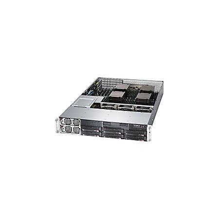 Supermicro CSE-828TQ-R1K43LPB System Cabinet - Rack-mountable - Black - 2U - 6 x Bay - 1400 W - 3 x Fan(s) Supported