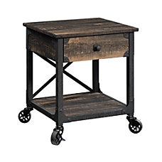 Sauder Steel River Mobile Side Table