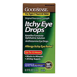 GoodSense Itchy Eye Drops 017 Oz