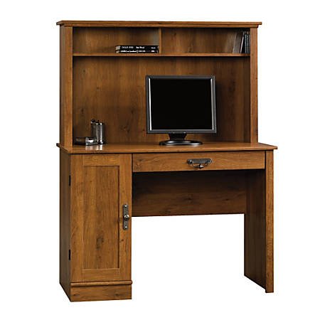 Sauder® Harvest Mill Computer Desk With Hutch, Abbey Oak