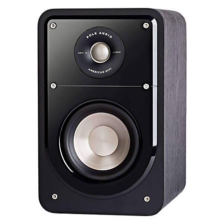 Polk Audio S15 Signature Series American Hi-Fi Home Theater Compact Bookshelf Speakers, Black, Pair, S15B