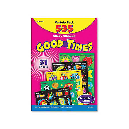 TREND Stinky Stickers Variety Pack, Good Times, Set Of 535