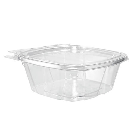"Dart® ClearPac® Containers, 5 1/2""H x 4 15/16""W x 2""D, 0.375 Qt, Clear, Pack Of 200 Containers"