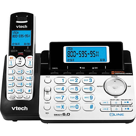 Vtech DS6151 2-Line DECT 6.0 Cordless Speakerphone with Digital Answering System and Caller ID