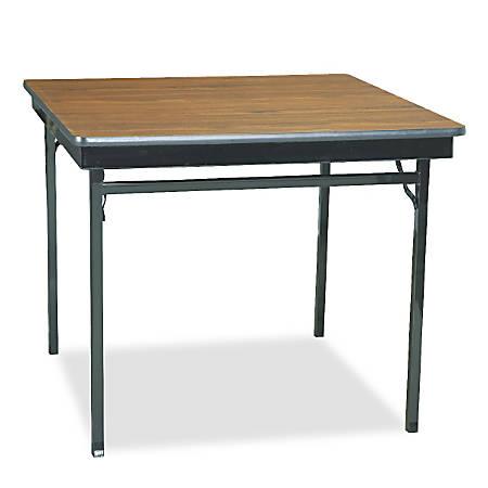 Barricks Special Size Folding Table Square 36 W x 36 D BlackWalnut