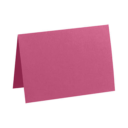 """LUX Folded Cards, A1, 3 1/2"""" x 4 7/8"""", Magenta, Pack Of 50"""