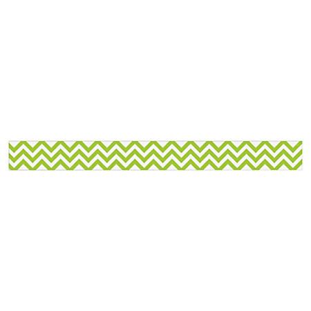 """Creative Teaching Press Chevron Border - Chevron - 3"""" Height x 420"""" Width - Lime Green, White - 1 Each"""