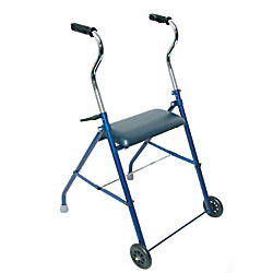DMI Adjustable Steel Folding Walker With