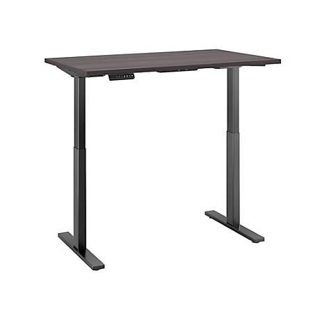 "Bush Business Furniture Move 60 Series 48""W x 30""D Height Adjustable Standing Desk, Storm Gray/ Black Base, Premium Installation"