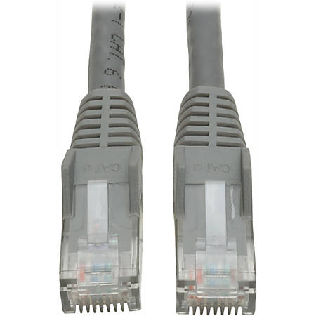 Tripp Lite 7ft Cat6 Gigabit Snagless Molded Patch Cable RJ45 M/M Gray 7'