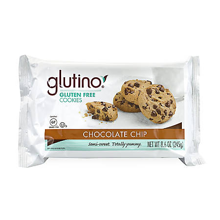 Glutino Gluten-Free Cookies, Chocolate Chip, 8.6 Oz, Pack Of 3 Bags