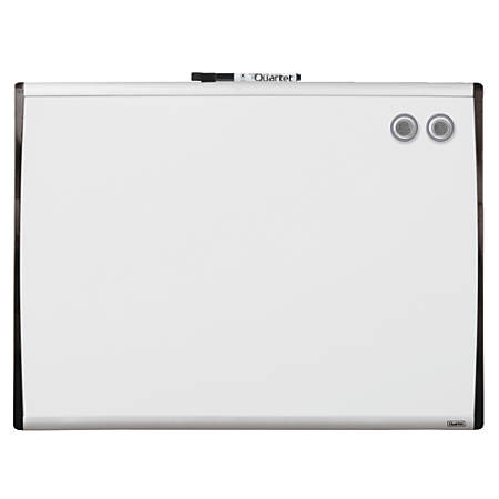 "Quartet® Magnetic Dry-Erase Board, 17"" x 23"", Black/Silver"