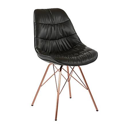Ave Six Langdon Chair, Black/Rose Gold